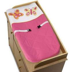Pink and Orange Butterfly Collection Changing Pad Cover
