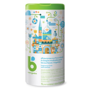 Babyganics All Purpose Surface Wipes, Fragrance Free