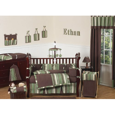 Green and Brown Ethan Modern Boys Changing Pad Cover