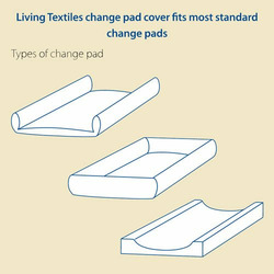 Living Textiles Baby 2-pk. Change Pad Covers - White