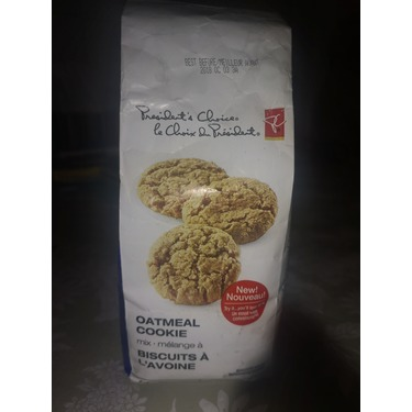President Choice oatmeal cookie mix