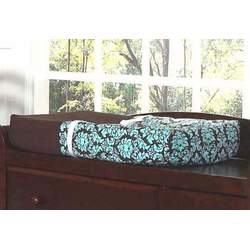 Turquoise and Brown Bella Baby Changing Pad Cover by JoJo Designs