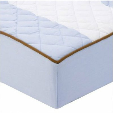 Metro Blue/Chocolate Changing Pad Cover