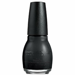 Sinful Colors Nail Polish in Black on Black