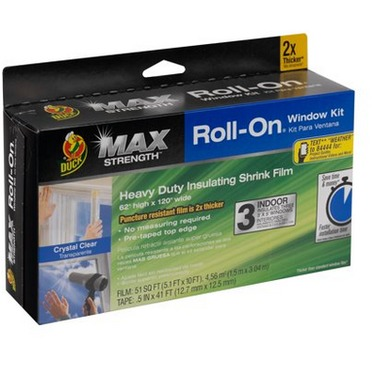 Duck® Brand Max Strength Roll-On® Window Insulation Kits - Clear, 3 pk., 62 in. x 120 in.
