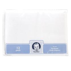 Gerber 12-Pack Flatfold Birdseye Cloth Diapers
