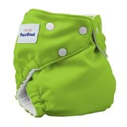 Fuzzibunz One Size Diaper, Apple Green, 10-45 Pounds