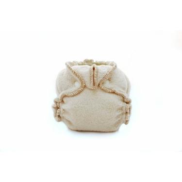 Kissaluvs Cotton Fleece Fitted Diaper, Unbleached, 0 - Newborn 5-15lbs