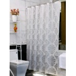 """Ufelicity Stall Size European Style Shower Curtain Liner Waterproof, 36""""x72"""" Eco-Friendly PEVA Bath Curtain Washable with Hooks for Shower Stall, Silver Grey"""