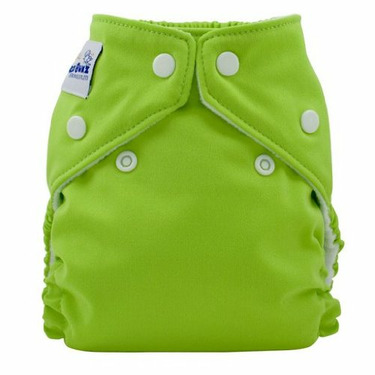Fuzzibunz Perfect Size Diaper Apple Green, Medium