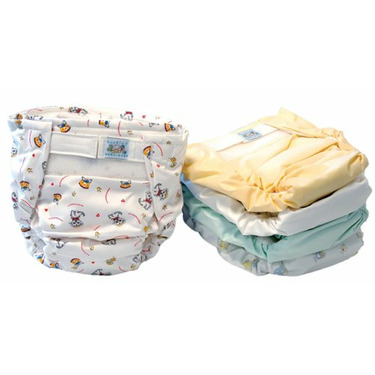 Kushies - Reusable Ultra Diapers for Infants - 5 Pack