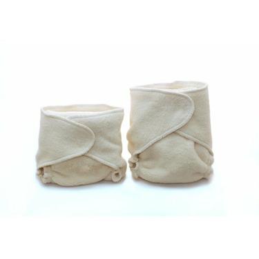 Kissaluvs Cotton Fleece Hybrid One Size Contour Diaper, Unbleached
