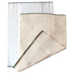 Chinese Unbleached Prefold Diaper: Medium (15-30 lbs)
