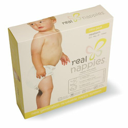 Real Nappies Cloth Diapers Intro Pack, Newborn Size, for babies up to 12 weeks, 5-13 lb