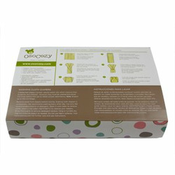 OsoCozy 6 Pack Eco-Friendly Prefolds Unbleached Cloth Diapers, Size 1