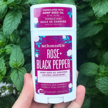 Schmidt's Rose + Black Pepper Natural Deodorant