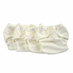 Economy Prefold Diaper Package - Infant 7-15 lbs - OsoCozy Unbleached Prefolds and Bummis Super Whisper Wraps
