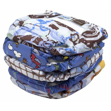 Kushies - Reusable Ultra-lite Diapers for Toddlers - 5 Pack - Boy