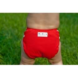 Babykicks 3G Pocket Diaper, Poppy/White Snaps