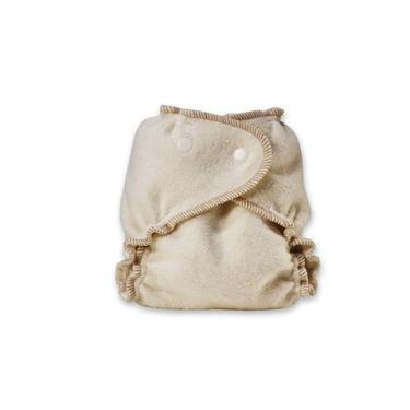 Kissaluvs Organic Cotton/Hemp Fitted Diaper, Unbleached, Medium/Large 15-40lbs