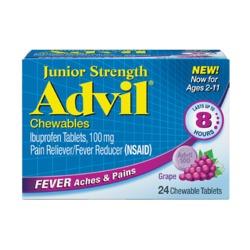 Junior Strength Advil, Chewables, Grape