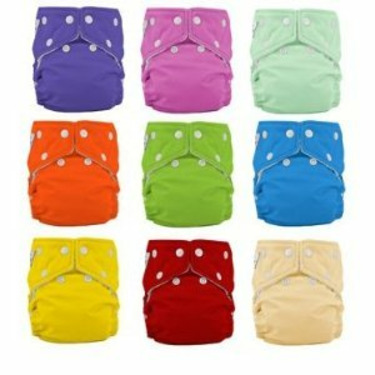 12 Pack FuzziBunz Perfect Size SMALL Cloth Diapers GENDER NEUTRAL colors