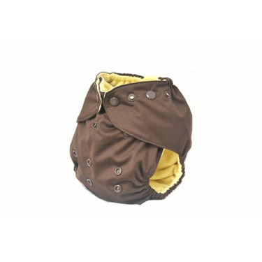 Kissa's One Size All-In-One Diaper, Chocolate
