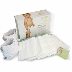Real Nappies Cloth Diapers Top-Up Pack, Newborn Size, for babies up to 12 weeks, 6-13 lb
