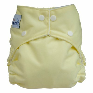 FuzziBunz Perfect Size Diaper - BUTTER YELLOW LARGE