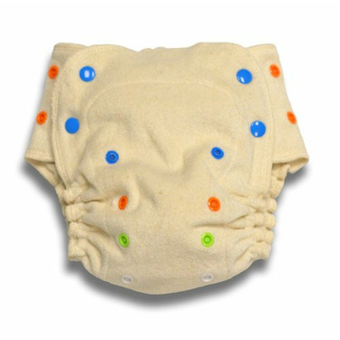 Babykicks Organic One Size Fitted Diaper, Natural