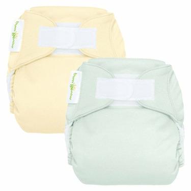 bumGenius Reusable Diaper 2 pack - Neutral (Hook and Loop Closure)