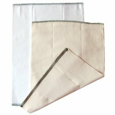 Chinese Unbleached Prefold Diaper: Large (over 30 lbs)