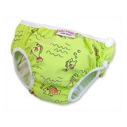 Imse Vimse Cloth Swim Diaper Green Fish XL(24-30lbs)