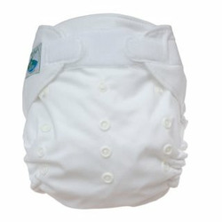 Tiny Tush Elite One-Size Cloth Diaper Aplix (Velcro-type) WHITE