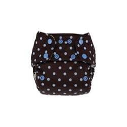 Swaddlebees Econappi One-Size Pocket Diaper - Snaps Blue on Chocolate