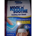 Kool 'n' soothe migraine relief head patches
