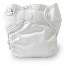 OsoCozy Prefold Cloth Diaper Grande Package - Bleached Prefolds & White Velcro Bummis Super Whisper Wraps