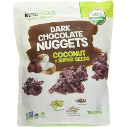 Inno Foods Organic Dark Chocolate Nuggets Coconut Super Seeds