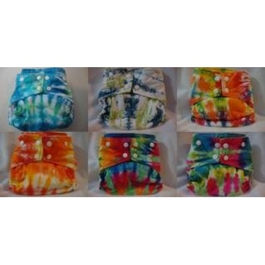 ButterBears one-size Tye Dye Cloth Diaper, 6pk