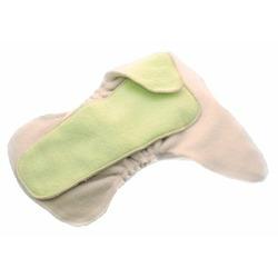 Kissaluvs One Size Hybrid Contour Diaper: Unbleached