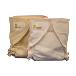 OsoCozy Fitted Cloth Diapers (Small 7-13 lbs, Unbleached (Natural-Ivory))