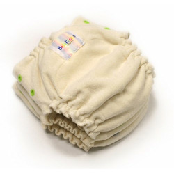 Babykicks Organic One Size Fitted Diaper, 2 Pack, Natural