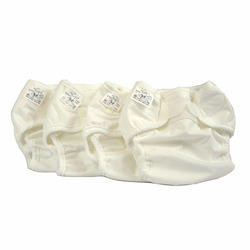 Economy Prefold Diaper Package - Regular 15-30 lbs - OsoCozy Unbleached Prefolds and Bummis Super Whisper Wraps