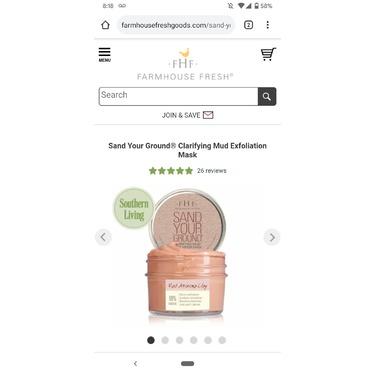 Farmhouse's Sand Your Ground - Clarifying Mud Exfoliation Mask