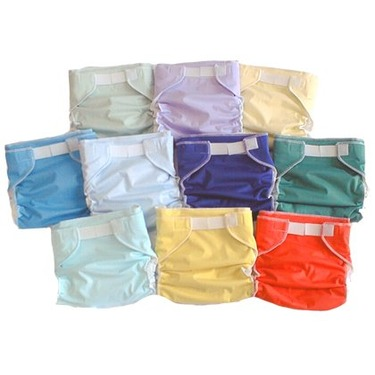 6 Baby Love All-in-One Cloth Diapers