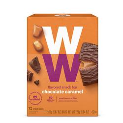 ww (Canada) chocolate caramel flavoured snack bar