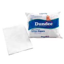 Dundee Pre Fold Diaper - White