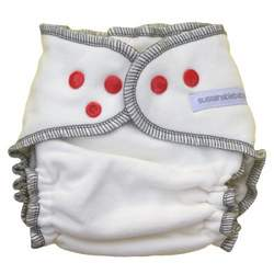 Sustainablebabyish Organic Fleece Fitted Diaper EXCLUSIVE COLOR - Peppermint Large