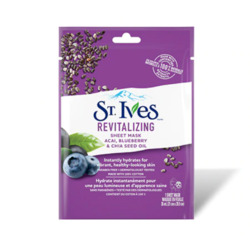 St. Ives Revitalizing Acai, Blueberry and Chia Seed Oil Sheet Mask