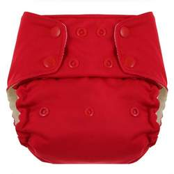 Swaddlebees Econappi Diaper Snaps, Red